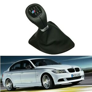 For BMW E87 X1 6 Speed Left Drive Gear Shift Knob Head Boot Cover