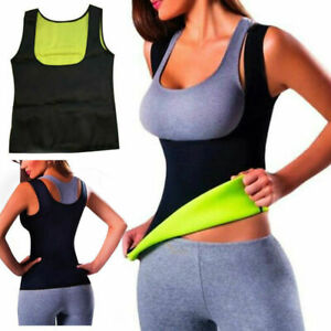 Hot-Thermo-Sweat-Body-Shaper-Slimming-Waist-Trainer-Cincher-Yoga-Gym-Top-Vest