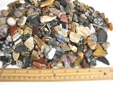 Agate plus mix all natural tumble polished small size 1/8-1.3 inch 1 pound lot