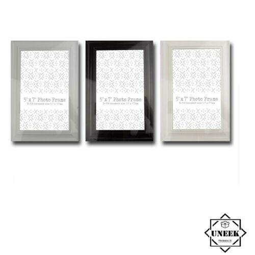 """7/""""x 5/"""" Picture Frame Plastic Photo Frame Certificate Poster Home Decor GM3329 UK"""