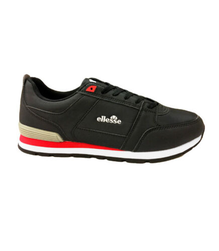 Unisex Ellesse Fabbiano Italia Low Trainers Running Gym Shoes Black