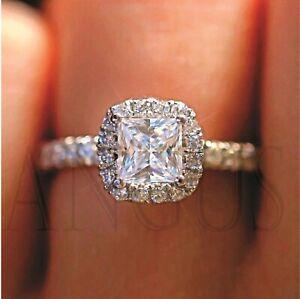 2-15-Ct-Princess-Cut-Diamond-Engagement-Wedding-Ring-Solid-14k-White-Gold