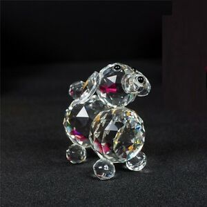 Puppy-Dog-Crystal-Cut-amp-Swarovski-Element-Inside-Base-with-Gift-Box-Brand-New