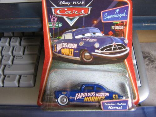 DISNEY PIXAR CARS FABULOUS HUDSON HORNET SUPERCHARGED SILVER RIMS