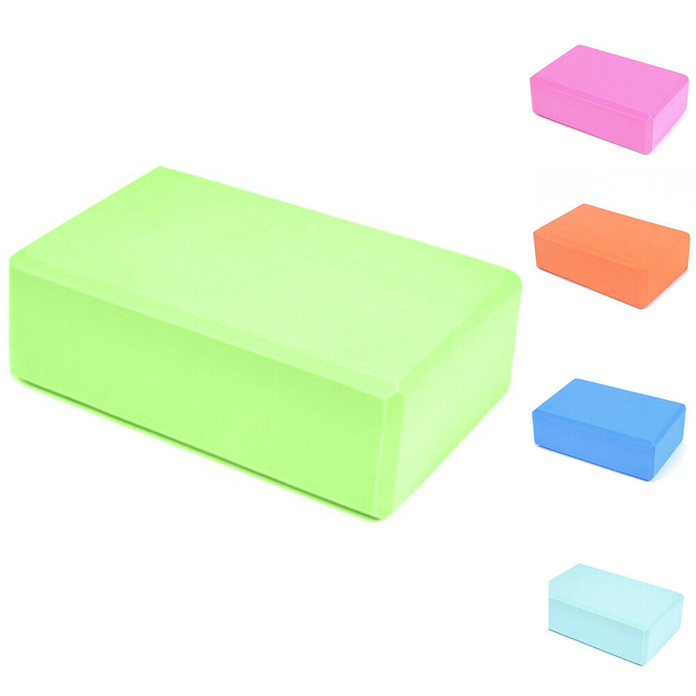 Yoga Block Pilates EVA Brick Foam Stretch Fitness Exercise Sport Gym Tool Fashio Fitness, Running & Yoga