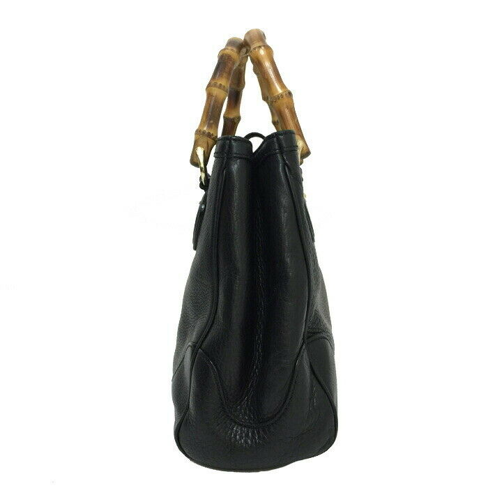 Auth GUCCI DIANA banboo Hand Bag 308360 Black - image 2