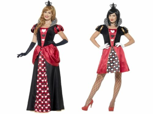QUEEN OF HEARTS ALICE IN WONDERLAND Ladies Costume Fairytale Fancy Dress