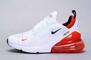 Details about Nike Air Max 270 White Black University Red BV2523-100 Men's  11.5 Running Shoes