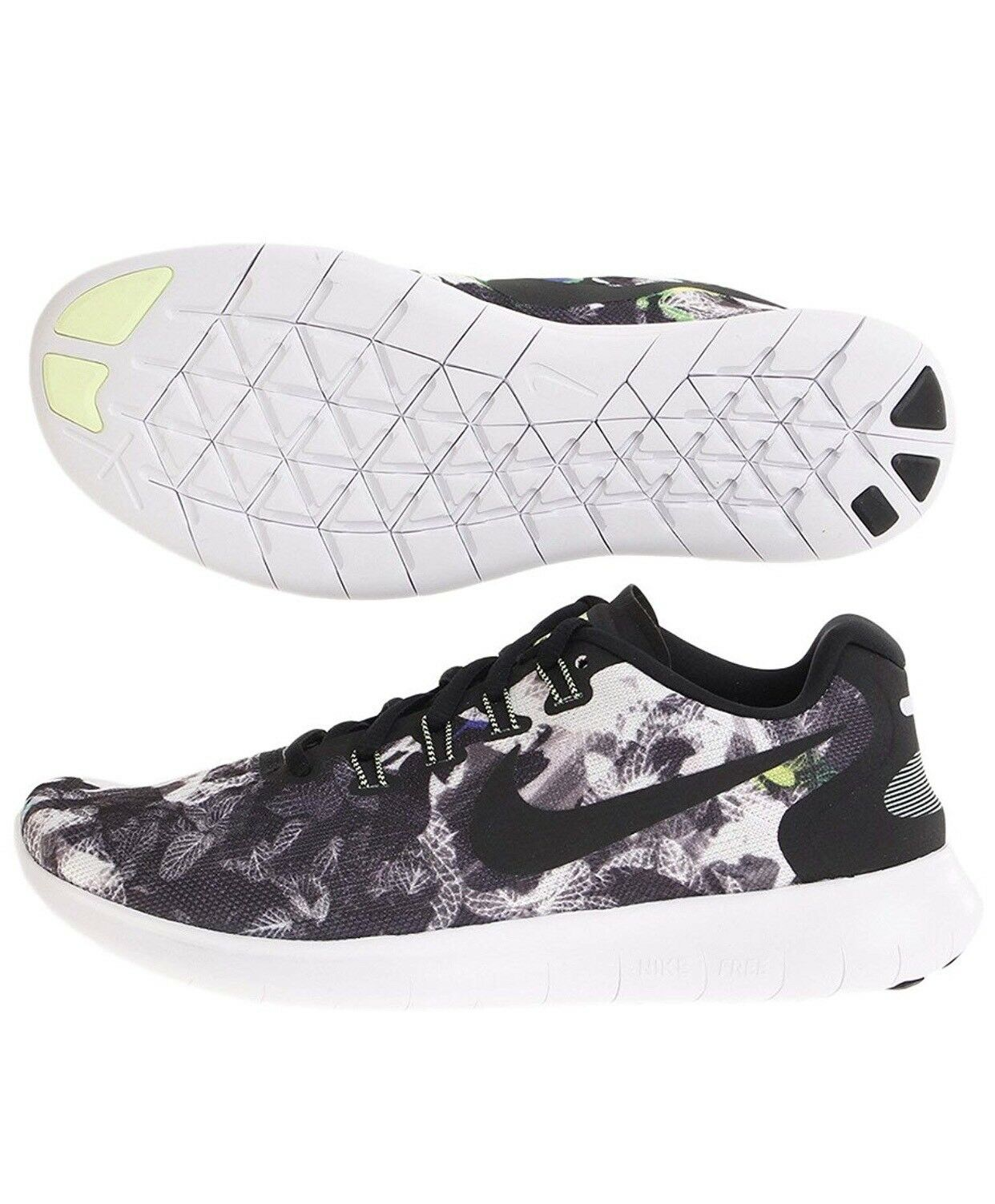 Cheap and beautiful fashion Nike, Mens Free RN 2018 Solstice, 883294 001, Black White, Barely Volt Comfortable