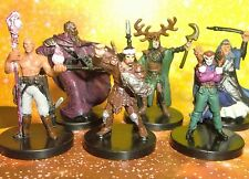 Dungeons & Dragons Miniatures Lot  Wizard Druid Mage Cleric !!  s108