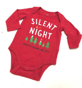 9f154e62538d Baby Gap Girl Boy 12-18 Months Christmas Tree Silent Night Red ...