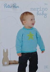 0df58e45eecc Baby KNITTING PATTERN BOOK Peter Pan Merino Baby DK 360 KNITTING ...