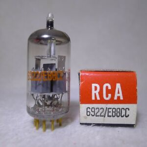 NOS-NIB-Siemens-E88CC-6922-O-Getter-Gray-Shield-Made-In-Germany-Gold-Pin-1966