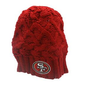 9d7b1520 Details about San Francisco 49ers NFL Youth Girls (7-16) OSFM Winter Knit  Beanie Hat Cap New