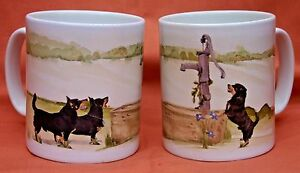 LANCASHIRE-HEELER-DOG-MUG-OFF-TO-THE-DOG-SHOW-WATERCOLOUR-PRINT-SANDRA-COEN-ART