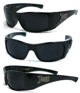 Locs Authentique Lunettes De Soleil Moto Style original UV Protect Black Lens LC26