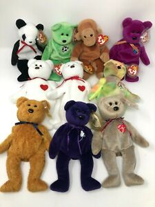 TY Beanie Babies Group - MIX LOT OF BEARS - Retired