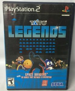 Taito LEGENDS PlayStation 2 PS2 Space Invaders 29 Total Arcade Hits Works Great