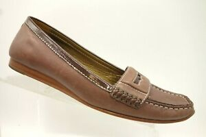Cole-Haan-Brown-Leather-Casual-Slip-On-Penny-Loafers-Shoes-Women-039-s-10-B