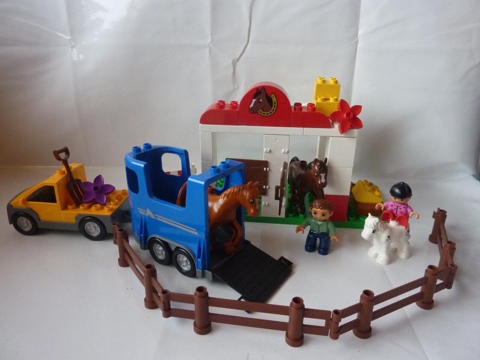 LEGO Duplo Reiterhof 5648 5648 5648 - Reitstall - Pferdestall - Pferd - Range - Pony -TOP 6ed32c