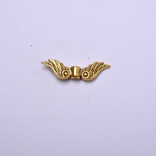 50Pcs Tibetan Silver ailes d/'ange Spacer Charms Beads B57 Gold bronze