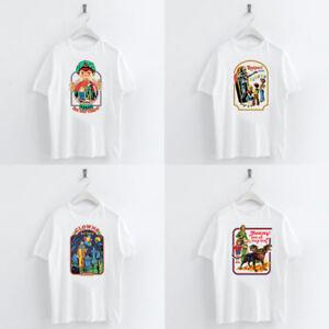 Women Devil Printed T-shirt Summer Round Neck White Cotton Fit ... 65961a76b8