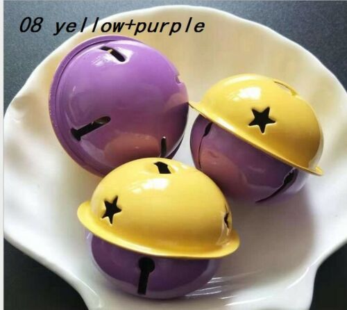 5//100Pcs Double-Colored Little Bells DIY Craft Bell Pieces Decor Acces Supplies