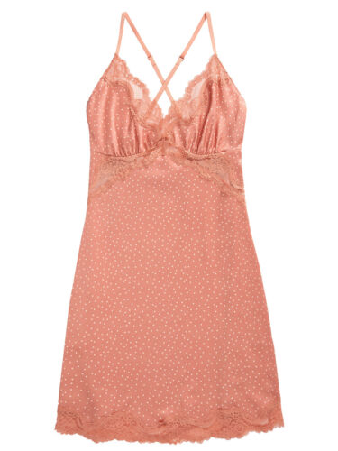 SUNSET Spotted Lace Trim Chemise by Next