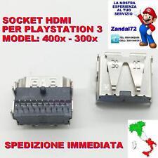 SOCKET HDMI PLAYSTATION 3 PS3 CECH-300X/400X PORTA CONNETTORE HDMI CON 2 FILE 19