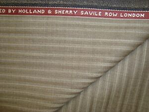4-yd-HOLLAND-SHERRY-Wool-Fabric-Target-9-oz-Super-120s-Suiting-144-034-Taupe-BTP