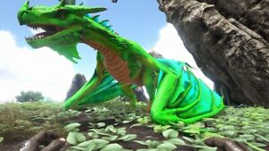 ark-survival-evolved-XBOX-PVE-Level-185-Green-Cyan-Fire-Wyvern-Clone