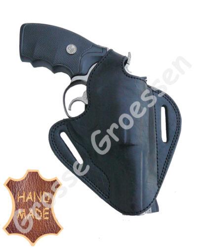 Revolver universale-Nero-Pelle-interamente a mano-Rivoltella-HOLSTER