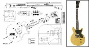 gibson les paul junior double cutaway electric guitar full scale on Gibson Les Paul Color Chart Gibson Les Paul Jr Schematic for image is loading gibson les paul junior double cutaway electric guitar
