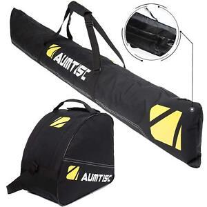 Two-Piece-Ski-Bag-and-Boot-Bag-Combo-for-1-Pair-of-Ski-Length-Up-To-200cm
