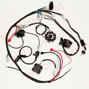 Buggy Complete Electrics GY6 Engine 150CC 125CC Wiring Harness Kit 8-coil  Stator   eBayeBay