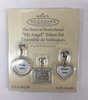 Hallmark Keepsake Charm Ornament Heart Of Motherhood My Angel Token Set (new)