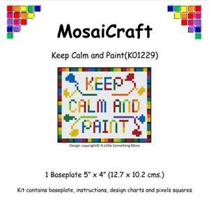 MosaiCraft-Pixel-Craft-Mosaic-Art-Kit-039-Keep-Calm-and-Paint-039-Pixelhobby