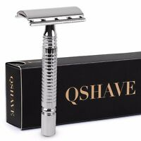Double Edge 3 Piece Style Safety Razor High Chrome Finish W/ Standard Handle