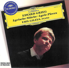 Edward Grieg ~ Lyric Pieces ~ Emil Gilels Piano ~ Deutsche Grammophon CD