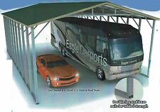 26x41x16 Triple Wide Rv Cover Dbl Framing Vertical Roof Free Delinstallation