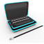 thumbnail 1 - Nintendo 2DS XL Hard Carrying Case/Cover with 8 Cartridge Holders (Black/Teal)
