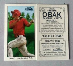 MIKE-TROUT-RC-2010-TRI-STAR-OBAK-MINI-LIMITED-EDITION-NATIONAL-PROMO-ANGELS