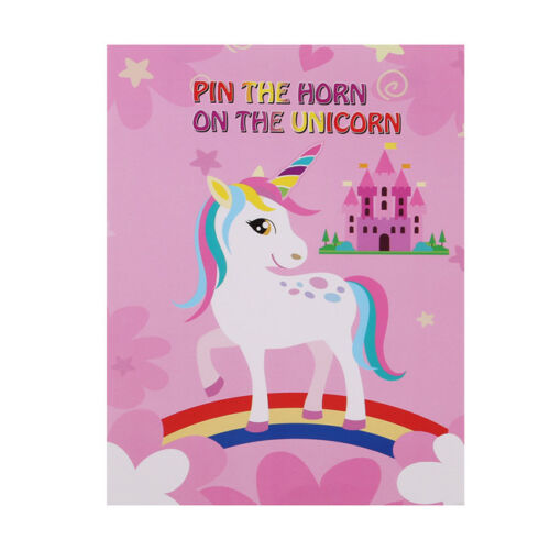 Pin the Horn on the Unicorn Games Pin the Tail Game Blindfold Poster S
