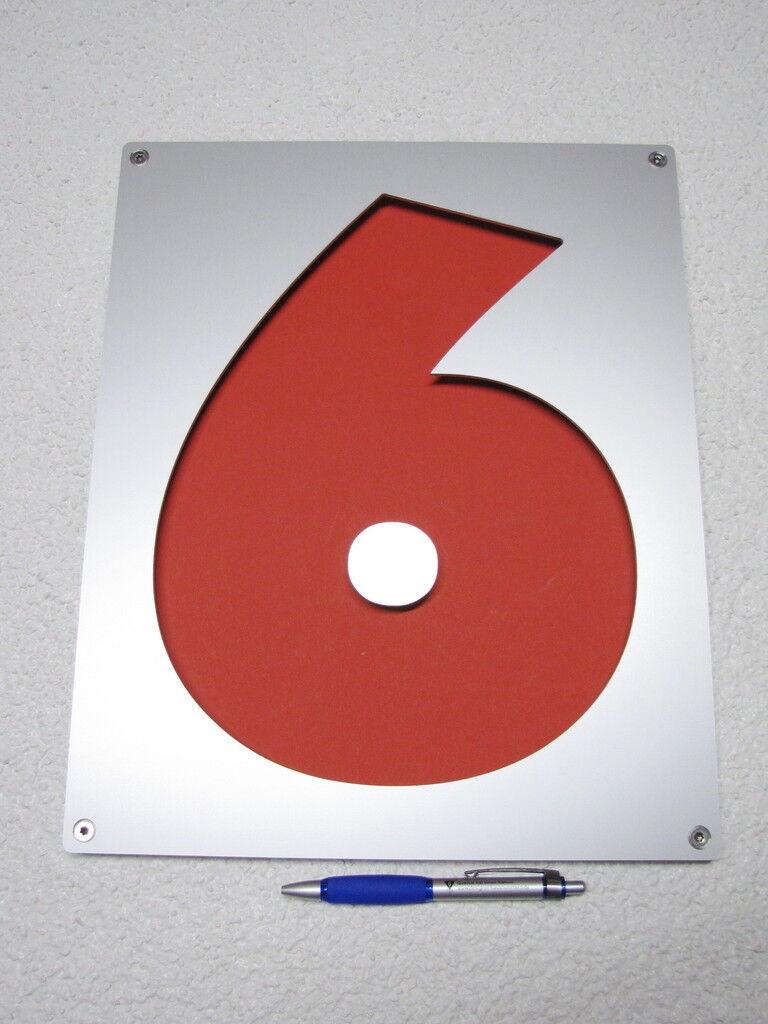 Hausnummer Zahl 6 oder 9 je nach Montage, 37 cm hoch | Spezielle Funktion  | Adoptieren  | Kompletter Spezifikationsbereich