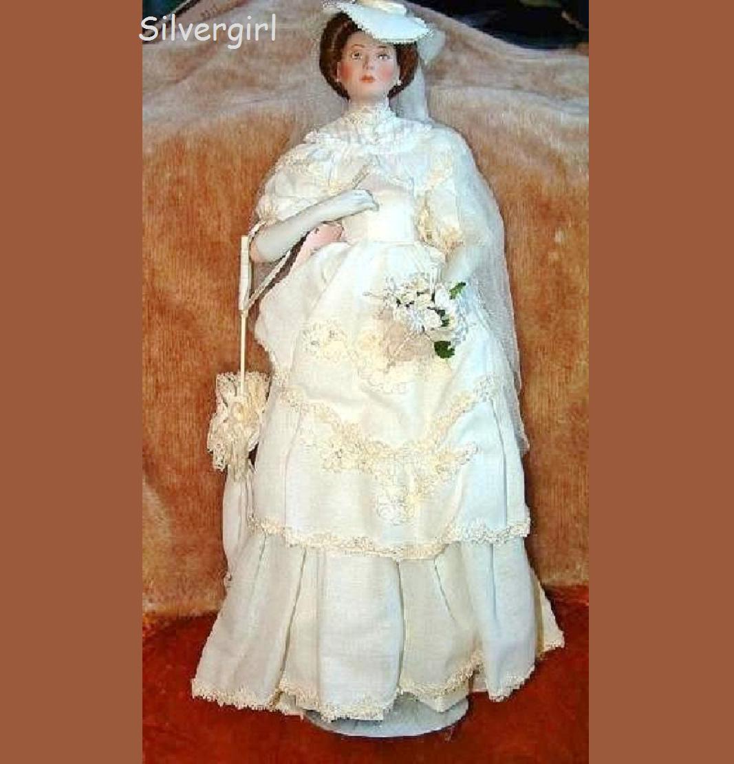 Flora The 1900'S Bride Porcelain Collector  bambola  migliore offerta