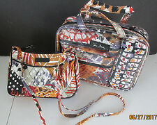 ef732465dfcd item 2 Vera Bradley 4pc COSMETIC ORGANIZER PAINTED FEATHERS +LITTLE  CROSSBODY PURSE NWT -Vera Bradley 4pc COSMETIC ORGANIZER PAINTED FEATHERS + LITTLE ...