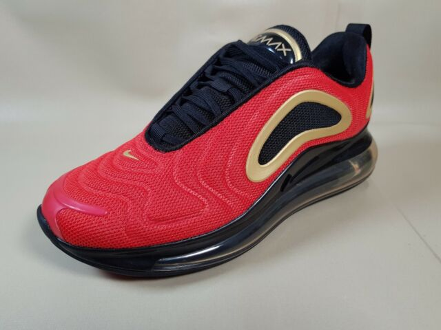 Women S Nike Air Max 720 Running Shoes Red Black Gold Cu4871 600