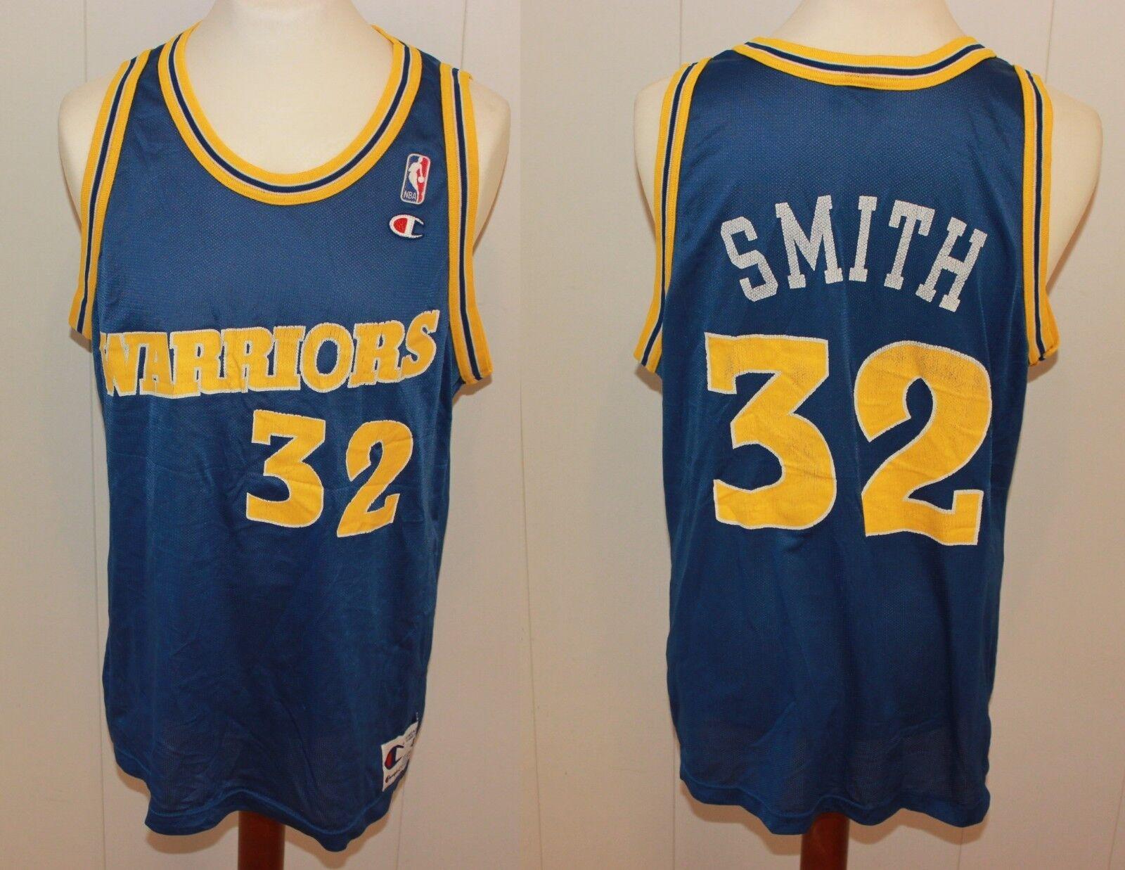 1995-1998 CHAMPION NO 32 JOE SMITH SMITH SMITH GoldEN STATE WARRIORS TRIKOT NBA GR US 48, L e8e9e7