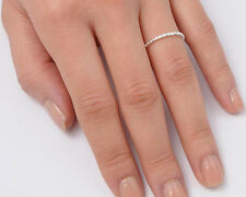 Silver Tiny Band Ring Sterling Silver 925 Plain Best Deal Jewelry Gift Size 4