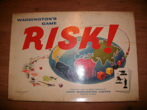Risk Vintage 1967 Edition Spare Parts Pieces Coloured Wooden Cubes Dice Cards